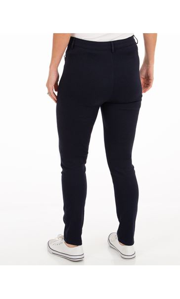 Slim Leg Stretch Trousers - Navy