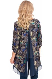 Oversized Printed Top