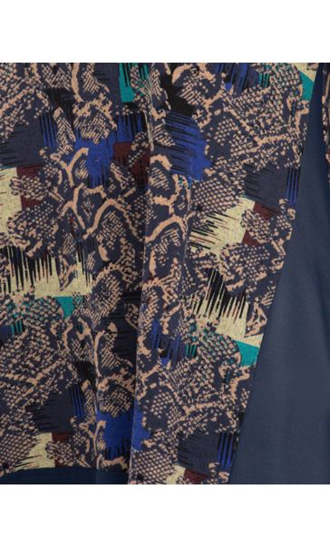 Oversized Printed Top Multi Blue/Navy - Gallery Image 3