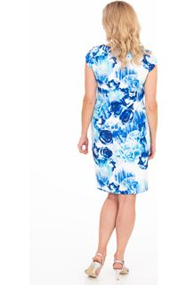 Cap Sleeve Floral Print Scuba Dress