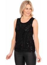 Sleeveless Beaded And Sequin Top