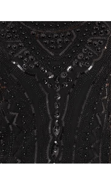 Sleeveless Beaded And Sequin Top Black - Gallery Image 3