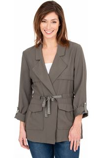 Tie Waist Safari Jacket