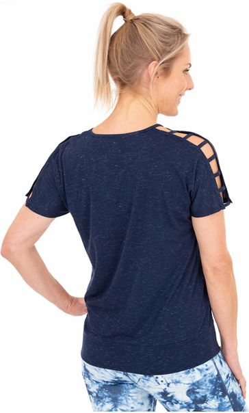 Shimmer Short Sleeve Gym Top