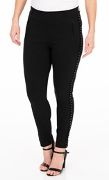 Embellished Slim Leg Stretch Trousers