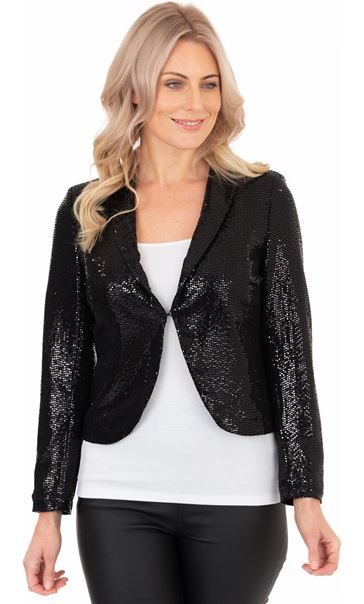 Long Sleeve Shimmer Jacket Black