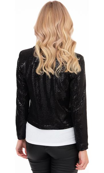 Long Sleeve Shimmer Jacket Black - Gallery Image 2