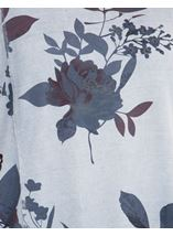Relaxed Fit Floral Print Top Blue - Gallery Image 3