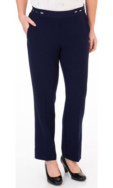 Anna Rose Straight Leg Trouser 27 inch Navy