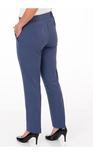 Anna Rose Straight Leg Trouser 29 inch Blue - Gallery Image 2