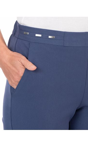 Anna Rose Straight Leg Trouser 29 inch Blue - Gallery Image 3