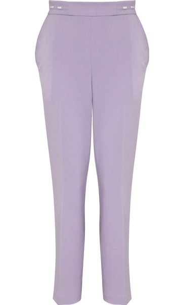 Anna Rose Straight Leg Trouser 29 inch Lilac - Gallery Image 3