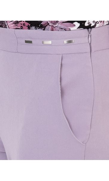 Anna Rose Straight Leg Trouser 29 inch Lilac - Gallery Image 4