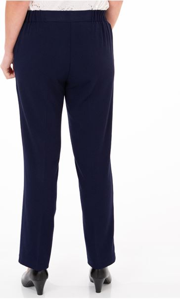 Anna Rose Straight Leg Trouser 27 inch Navy - Gallery Image 2