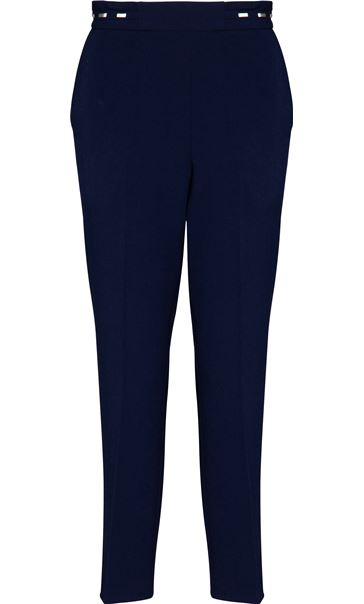 Anna Rose Straight Leg Trouser 27 inch Navy - Gallery Image 4