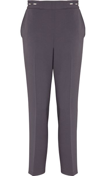Anna Rose Straight Leg Trouser 27 inch Mid Grey - Gallery Image 4