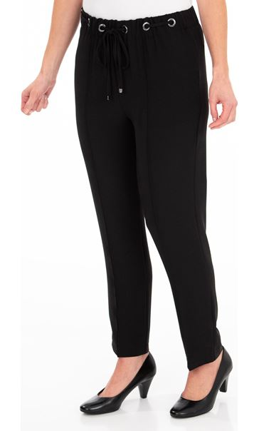 Anna Rose Pull On Crepe Trousers Black