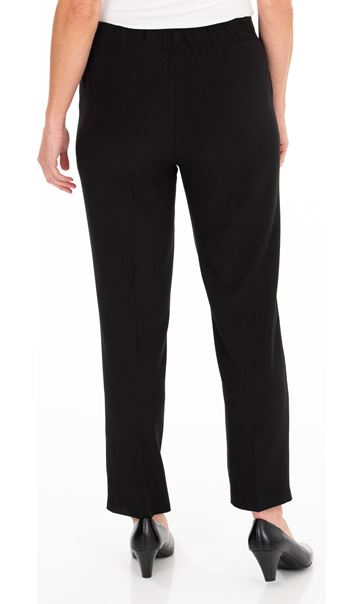 Anna Rose Pull On Crepe Trousers - Black