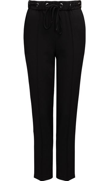 Anna Rose Pull On Crepe Trousers Black - Gallery Image 3