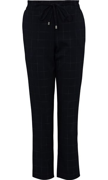 Anna Rose Pull On Check Trousers Navy/Multi - Gallery Image 4