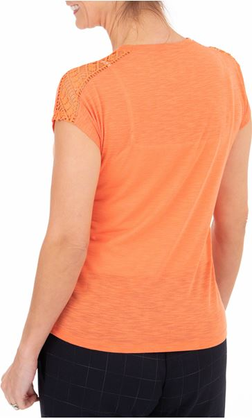 Anna Rose Embellished Short Sleeve Jersey Top Orange - Gallery Image 2