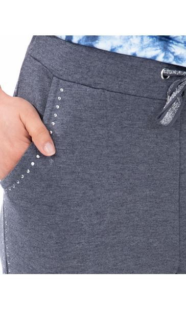 Studded Leisurewear Trousers Blue - Gallery Image 3