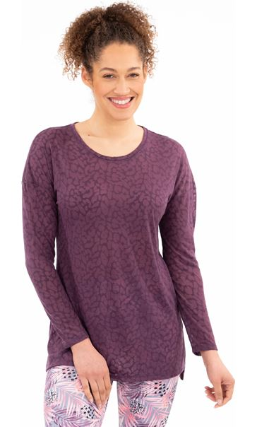 Long Sleeve Gym Top Purple