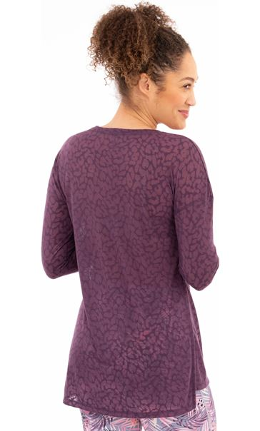 Long Sleeve Gym Top Purple - Gallery Image 2