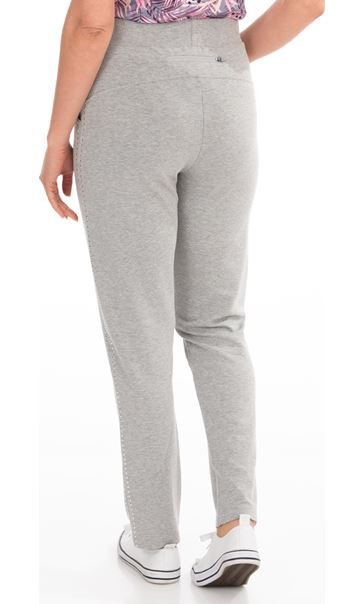 Studded Leisurewear Trousers - Grey Marl