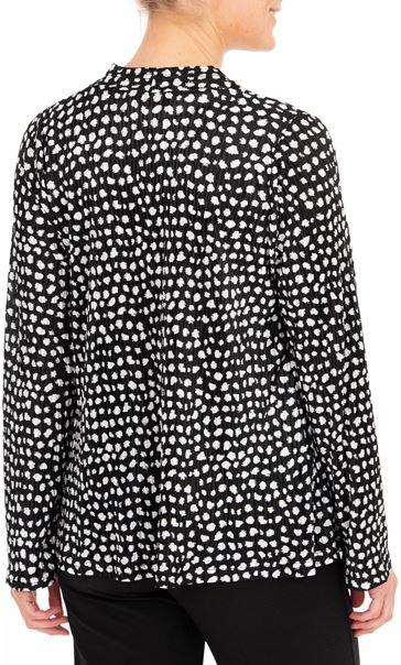 Anna Rose Two Piece Top Set With Necklace Black/Ivory - Gallery Image 2