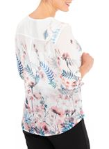 Anna Rose Embellished Floral Print Top White/Coral - Gallery Image 2