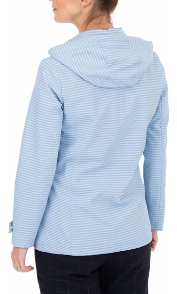 Anna Rose Stripe Zip Coat Blue Stripe - Gallery Image 2