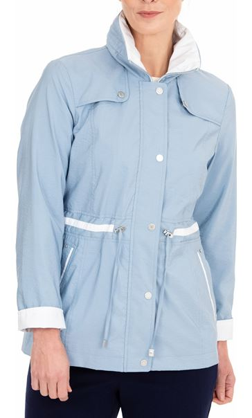 Anna Rose Lightweight Coat Pale Blue