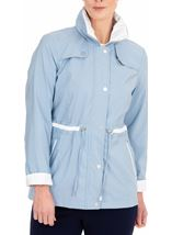 Anna Rose Lightweight Coat Pale Blue - Gallery Image 1