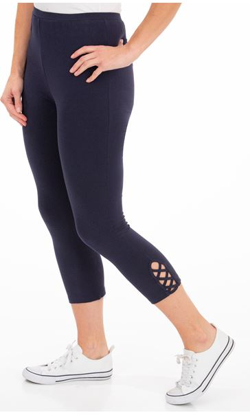 Cropped Jersey Leggings - Blue
