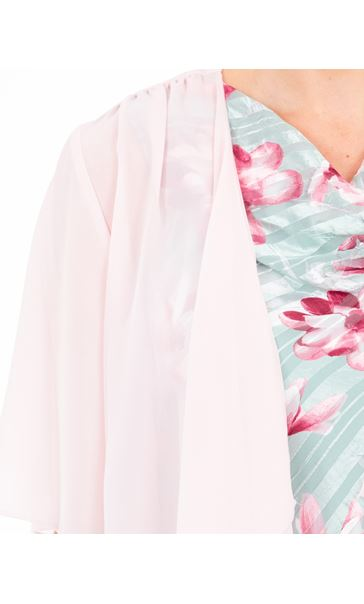 Anna Rose Open Chiffon Cover Up Pink - Gallery Image 3
