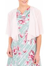 Anna Rose Open Chiffon Cover Up Pink - Gallery Image 1