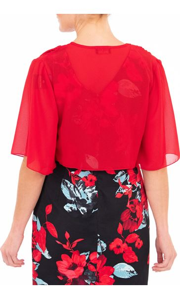 Anna Rose Open Chiffon Cover Up - Red