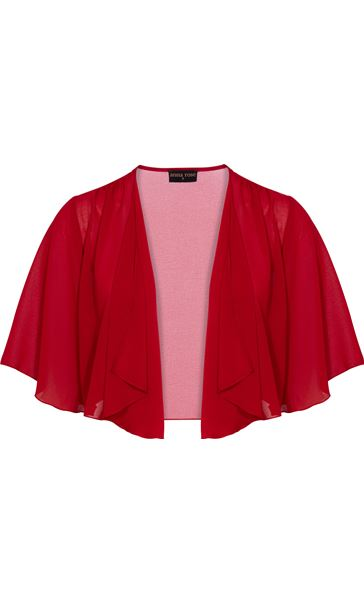 Anna Rose Open Chiffon Cover Up Red - Gallery Image 3