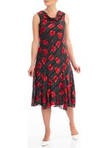 Anna Rose Floral And Spot Print Midi Dress