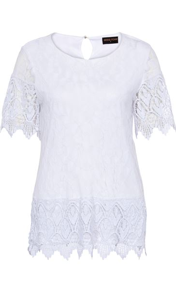 Anna Rose Lace And Crochet Top Ivory - Gallery Image 3