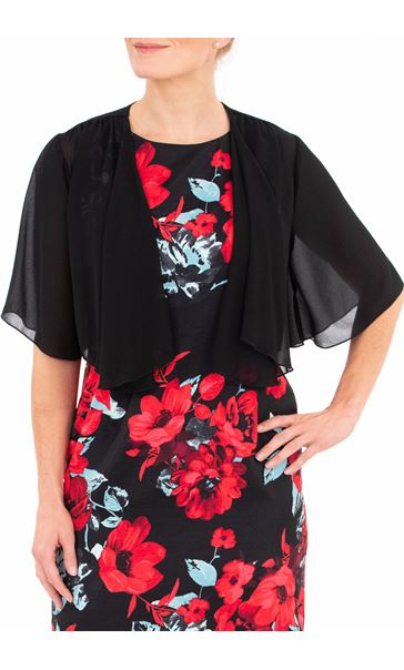 Anna Rose Open Chiffon Cover Up - Black