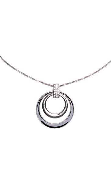 Diamante Hoop Necklace