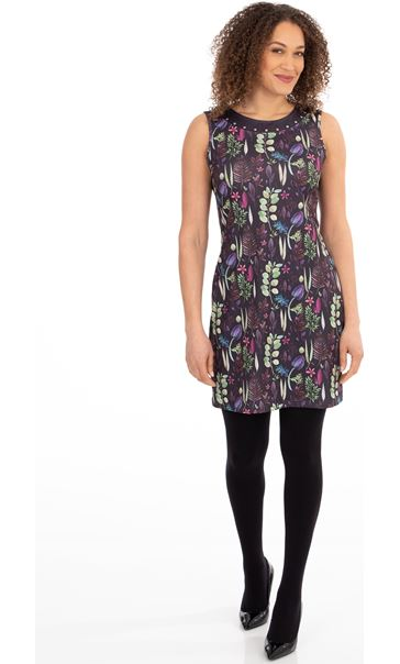 Botanical Printed Stretch Dress