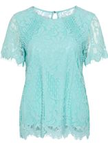 Anna Rose Crochet And Lace Top
