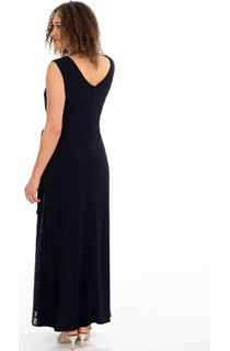 Lace Panelled Sleeveless Maxi Dress