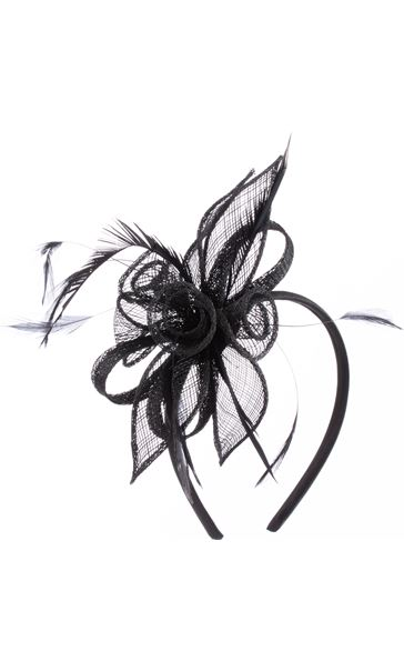 Headband Fascinator Black