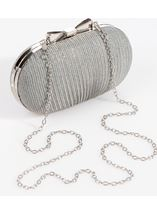 Shimmer Shell Clutch Bag