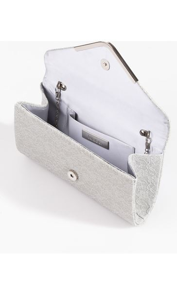 Glitter Envelope Clutch Bag Silver - Gallery Image 3