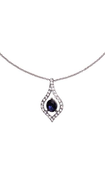 Faux Diamond and Sapphire Necklace